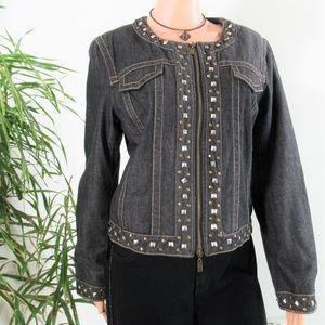 Pamela McCoy Jackets & Coats - Pamela McCoy* WARM  Studded Denim Trucker Jacket